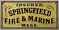 Fire mark for Springfield Fire and Marine Insurance Company in Springfield, Massachusetts.jpg