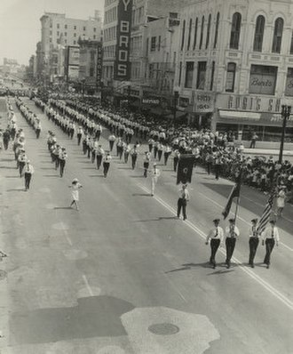 Synchronization - Firefighters marching in a parade