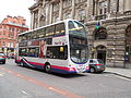 First bus in King Street, Manchester.jpg