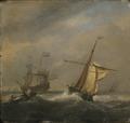Fishing Boats in a Gabe (Willem van de Velde d.y.) - Nationalmuseum - 17675.tif