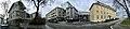 Fiskergata, Svolvær, Norway. Thon hotel, Styrhuset Pub, Lofoten kulturhus, krigsminnemuseum (War memorial Museum), etc. Distorted iPhone panorama 2019-05-08 IMG 8481.jpg