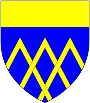 Henry FitzHugh, 3rd Baron FitzHugh - Arms of FitzHugh: Azure, three chevrons interlaced in base or a chief of the last
