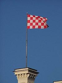 Flaga na glogowskim ratuszu