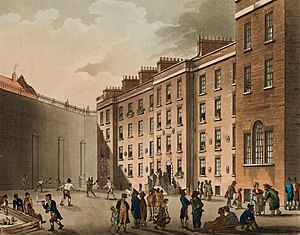 Fleet Prison - The Raquet Ground of the Fleet Prison circa 1808