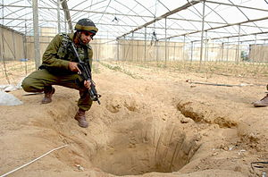 Gaza Strip smuggling tunnels - Tunnel found near Egyptian border by Israeli forces
