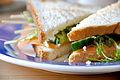 Flickr - cyclonebill - Sandwich med røget laks, agurk, ærtespirer og mynte.jpg