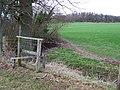 Flimsy Stile and Farmland, Sutton Hill, Shropshire - geograph.org.uk - 677855.jpg