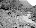Flood damage to rock wall on Virgin River, a quarter mile south of Court of Patriarchs. Record of damage or defective (4f12c68ef5e446cfa58573b8c83be030).jpg