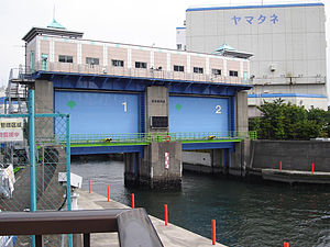 Tokyo floodgates created to protect from typho...