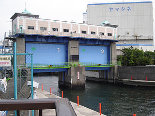 Floodgate adjustable gate used to control water flow