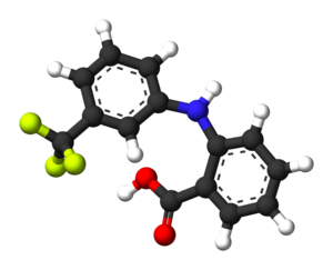 Flufenamic acid - Image: Flufenamic acid 3D balls