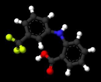 Flufenamic acid - Image: Flufenamic acid 3D balls