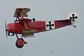 Fokker Dr.I Manfred Richthofen Pass three 05 Dawn Patrol NMUSAF 26Sept09 (14413496297).jpg