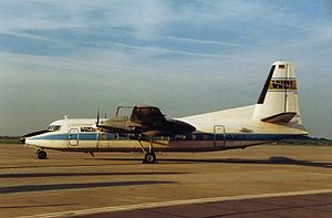 Sempati Air Flight 304 - A Fokker F27 aircraft similar to the accident aircraft