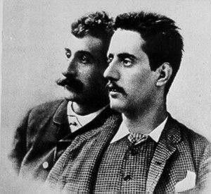 Edgar (opera) - Librettist Ferdinando Fontana and composer Giacomo Puccini
