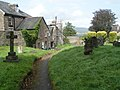 Footpath through Chagford church yard - geograph.org.uk - 1473501.jpg