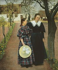 Spring. Ebba and Sigrid Kähler