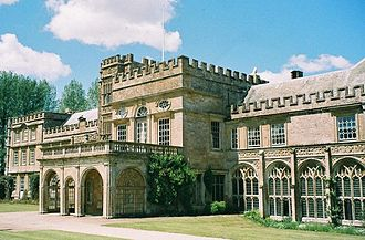 English country house - Forde Abbey in Dorset. Many country houses have evolved and been extended over several centuries. Here, the architecture runs from Medieval ecclesiastical to Palladian and on to Strawberry Hill Gothic, while at sometime an attempt at unity has been made by the use of crenelation.