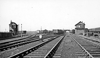 Cleator and Workington Junction Railway - Image: Former Cleator & Workington Junction Railway at Harrington Junction, 1951 (geograph 5162661)