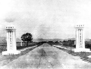 Fort Stotsenburg - The Gateposts of Fort Stotsenburg, as seen between 1919-1941