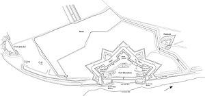 Fort Monckton - A plan of the fort drawn from original sources