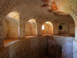 Lokrum - The interior of Fort Royal Castle