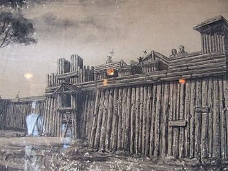 Fort San Pedro - An illustration depicting what the fort may have looked like in 1565.
