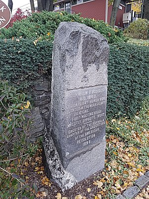 East Norwalk - Image: Founders (AKA Founding) Stone Monument