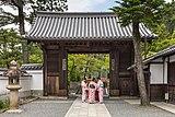 Four ladies wearing a yukata in front of the North Gate of Kiyomizu-dera temple Kyoto Japan.jpg