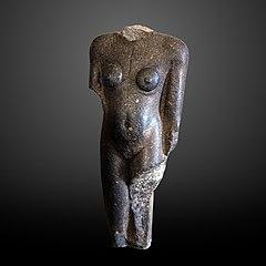 Framentary statue of a Nubian woman-E.14.292
