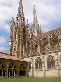 cathedral located in Pyrénées-Atlantiques, in France