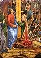 Francesco bianchi ferrari, crocifissione coi ss. girolamo e francesco (pala delle tre croci), 1490-95 ca. 08 dolenti.jpg