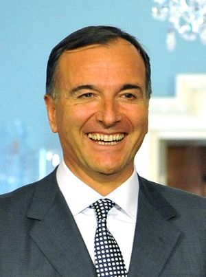 Berlusconi IV Cabinet - Image: Franco Frattini on April 6, 2011