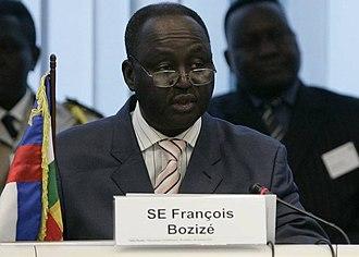 François Bozizé - Bozizé at the CAR Development Partner Round Table in Brussels.