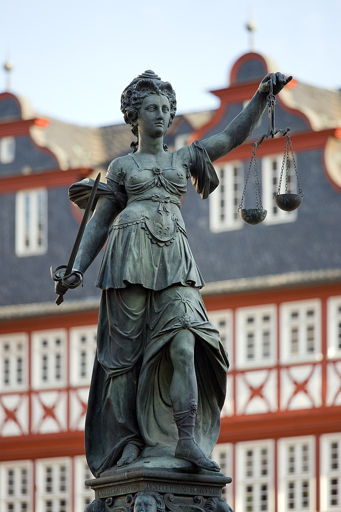 Lady Justice in Frankfurt am Main