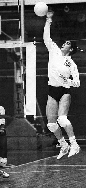 Pittsburgh Panthers women's volleyball - Denise Frawley was a two-time Honorable Mention All-American, 1987 Big East Conference Player of the Year, and 1988 Big East Tournament MVP for Pitt