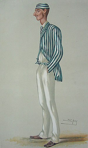 "Fred Spofforth - ""The Demon Bowler"" Spofforth as caricatured by Spy (Leslie Ward) in Vanity Fair, July 1878"