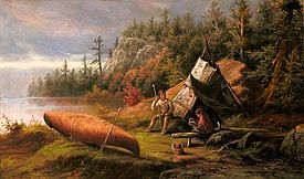 Frederick A. Verner - Ojibwa Camp, Northern Shore of Lake Huron (1873).jpg