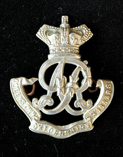 Queens Own Oxfordshire Hussars unit of the British Army