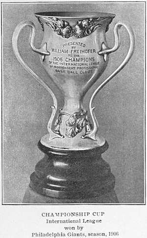 International League of Independent Professional Base Ball Clubs - The Freihofer Cup.