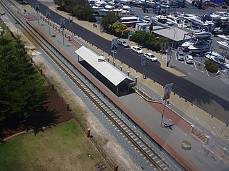 The Esplanade railway station - The station in 2011, viewed from the top of the ferris wheel.