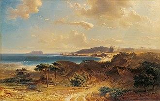 Fritz Bamberger (painter) - The Beach at Estepona (1855)
