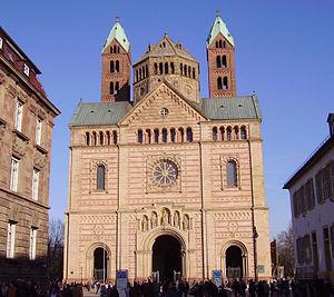 Heinrich Hübsch - West facade of the Speyer Cathedral rebuilt by Heinrich Hübsch