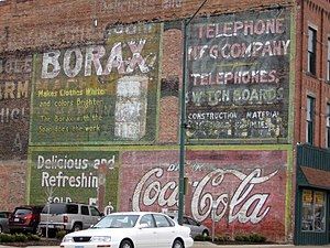 20 Mule Team Borax - Borax ghost sign in Fort Dodge, Iowa