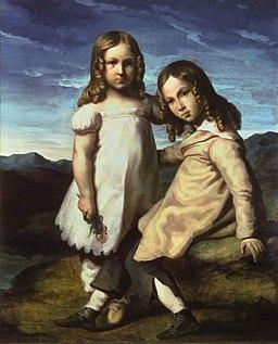 Géricault - Portrait d'Elise et Alfred Dedreux enfants