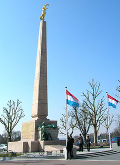 The Gëlle Fra monument commemorates those who volunteered for service in the armed forces of the Allies in World War I.