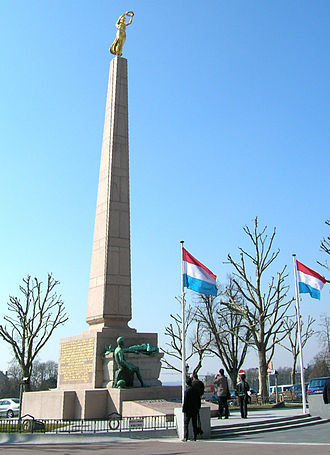 Gëlle Fra - The Gëlle Fra monument commemorates the thousands of Luxembourgers that volunteered for service in the armed forces of the Allied Powers during the First World War.