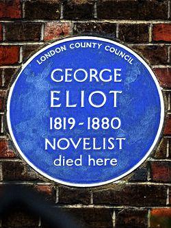George eliot 1819 1880 novelist died here