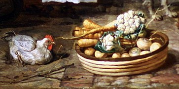 Gabriel Metsu - Le marché aux herbes (detail chicken carrots onion cauliflower).jpg