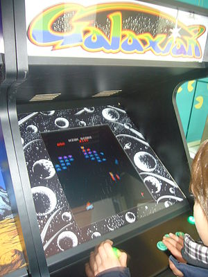 Galaxian - A Galaxian arcade game displayed at the mNACTEC museum in Terrassa, Catalonia